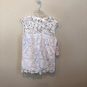 Nanette Lepore, Anthropologie, S, White Lace Top